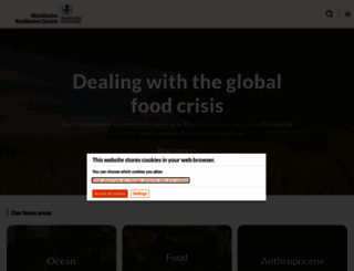 stockholmresilience.org screenshot