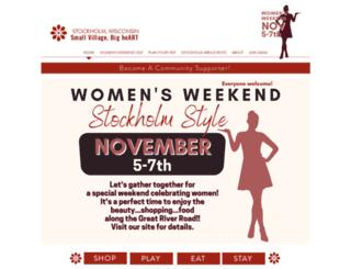 stockholmwisconsin.com screenshot