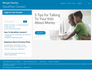 stockplanconnect.morganstanley.com screenshot