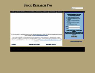 stockresearchpro.com screenshot