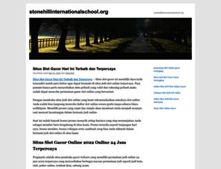 stonehillinternationalschool.org screenshot