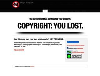 stop43.org.uk screenshot