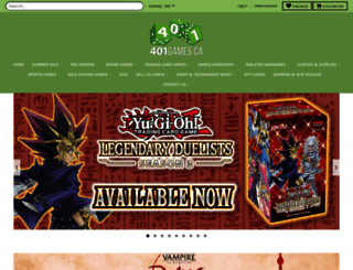 store.401games.ca screenshot