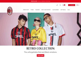 store.acmilan.com screenshot