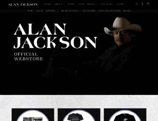 store.alanjackson.com screenshot