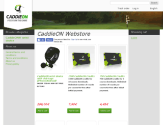 store.caddieon.com screenshot
