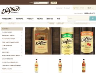 store.davincigourmet.com screenshot