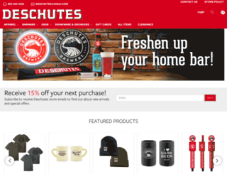 store.deschutesbrewery.com screenshot