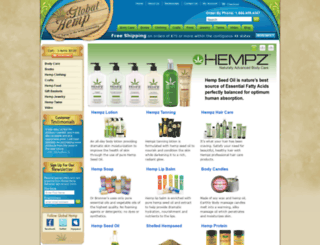 store.globalhemp.com screenshot