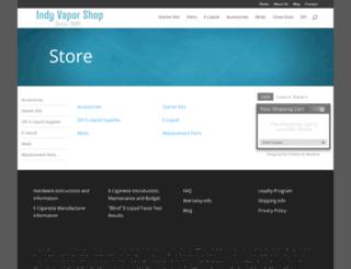 store.indyvaporshop.com screenshot