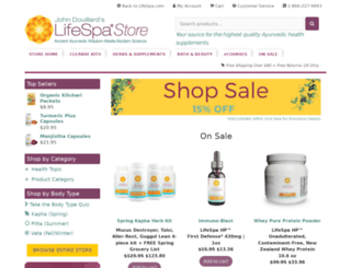 store.lifespa.com screenshot