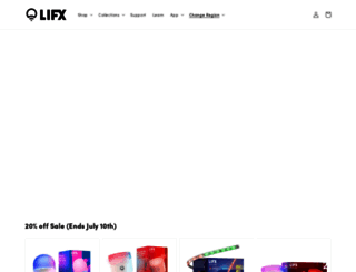 store.lifx.co screenshot