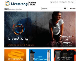 store.livestrong.org screenshot
