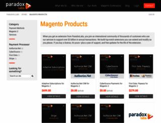store.paradoxlabs.com screenshot
