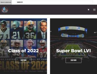 store.profootballhof.com screenshot