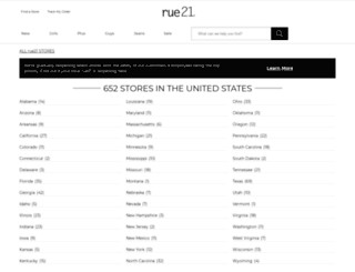 stores.rue21.com screenshot
