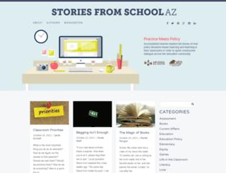 storiesfromschoolaz.org screenshot