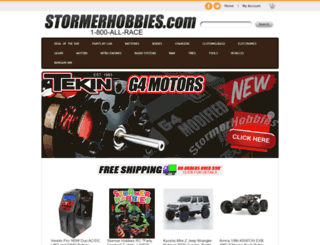 stormerhobbies.com screenshot