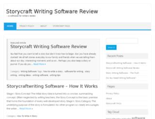 storycraftwritingsoftware.com screenshot