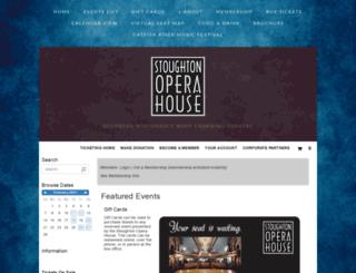 stoughtonoperahouse.ticketforce.com screenshot