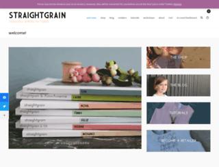 straight-grain.com screenshot