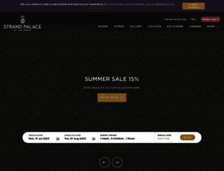 strandpalacehotel.co.uk screenshot