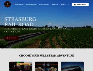 strasburgrailroad.com screenshot