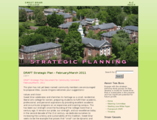 strategicplan.blog.sbc.edu screenshot