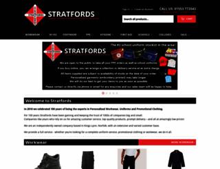 stratfords.com screenshot