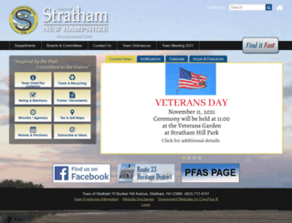 strathamnh.gov screenshot
