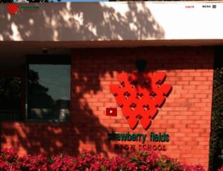 strawberryfieldshighschool.com screenshot