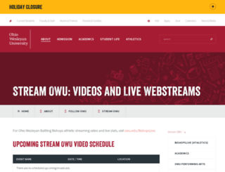 stream.owu.edu screenshot