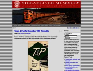 streamlinermemories.info screenshot