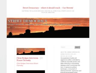 streetdemocracy.wordpress.com screenshot