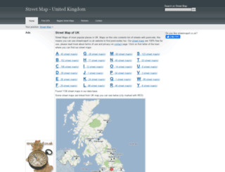 streetmapof.co.uk screenshot