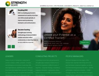 strengthscape.com screenshot