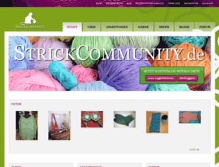 strickcommunity.net screenshot