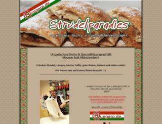 strudelparadies.hungaro.de screenshot