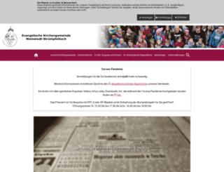 struempfelbach-evangelisch.de screenshot