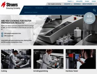 struers.com screenshot