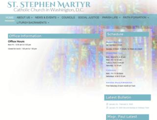 ststephenmartyrdc.org screenshot