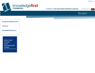 student.knowledgefirstfinancial.ca screenshot
