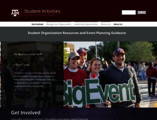 studentactivities.tamu.edu screenshot
