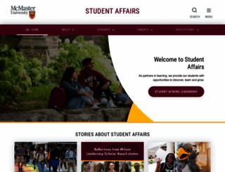 studentaffairs.mcmaster.ca screenshot