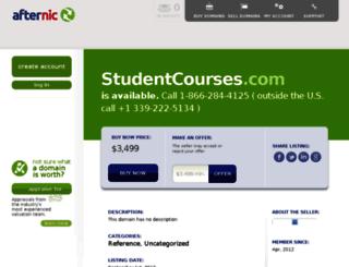 studentcourses.com screenshot
