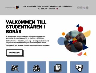 studentkareniboras.se screenshot