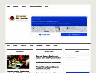 studentlanka.com screenshot