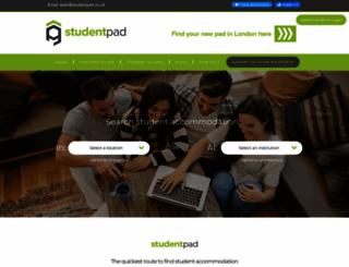 studentpad.co.uk screenshot