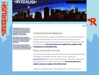 studentrush.isecuresites.com screenshot