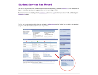 studentservices.uwo.ca screenshot